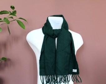 SALE!!! Vintage BENETTON Scarf, Italian Shawl, Classic Designer Scarf, Retro Italian Wrap, Green Designer Shawl, 80's Italian Designer Scarf