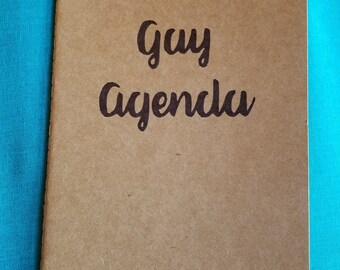 Gay Agenda Blank Notebook A5