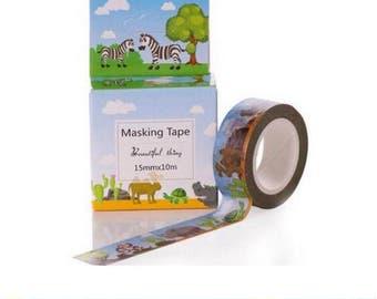 Washi Tape, Masking Tape, tape adhesive scrapbooking child animals