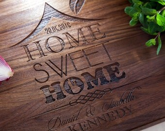 housewarming gift Home Decor Kitchen Decor Personalized Cutting Board Realtor Gift New Home Gift Housewarming Gift Home Sweet Home New Home