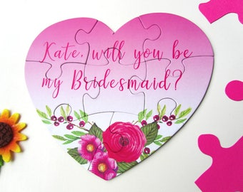 Will You Be my Junior Bridesmaid Puzzle, Junior Bridesmaid Proposal, Will You Be My Bridesmaid, Bridesmaid Proposal Puzzle, Miniature Bride