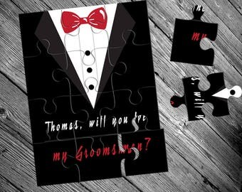 Groomsman puzzle, Will You Be My Groomsman, Groomsman proposal, Ask Groomsman, Groomsman card, Groomsman gift, Groomsman jigsaw, Groomsmen