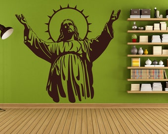Jesus Wall Sticker Christianity God Vinyl Christ Decal Church Stencil Art Gift