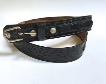 70's Vintage Back Leather Belt