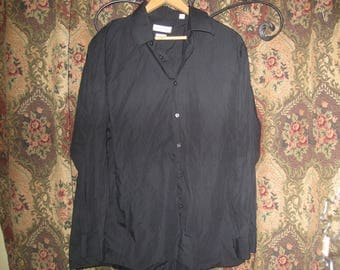ship free  black Calvin Klein Shirt 16 1/2 32/33  regular fit