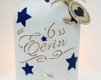 Handmade Emma Bridgewater Starry Skies Mason Jar