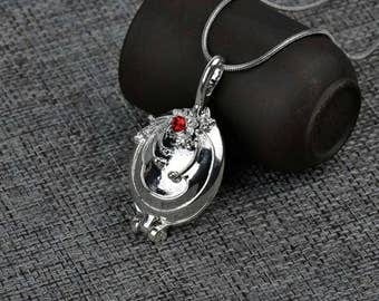 Vampire diaries elena silver locket necklace
