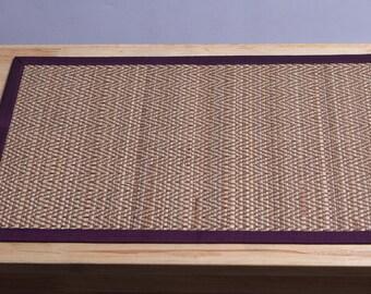 Plate mat, made from reed, Thai handmade, wicker mat,vintage,dinner, Home Decor