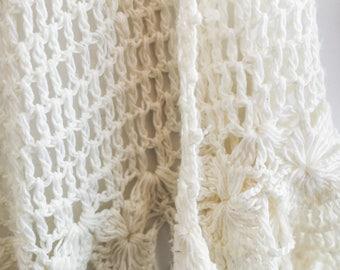 Bohemian crochet/knit shawl