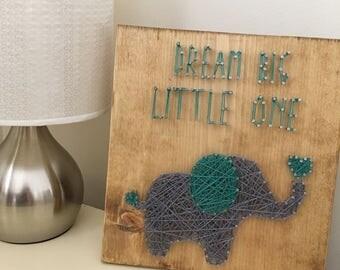 String Art Elephant, Baby Shower Gift, String Art Wall Decor, Baby Nursery Wall Art, Elephant Baby Shower, Nursery Decor, Woodland Nursery