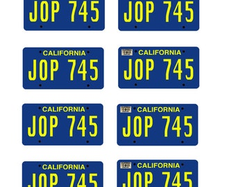 scale model toy car Brady Bunch license plates tags