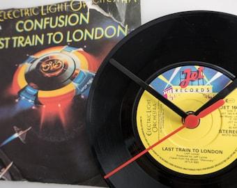 "ELO - 'Last Train To London' 7"" Record Clock"