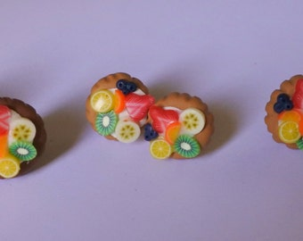 fruit tarts lobe earrings