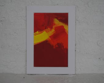 Abstract Yellow Red