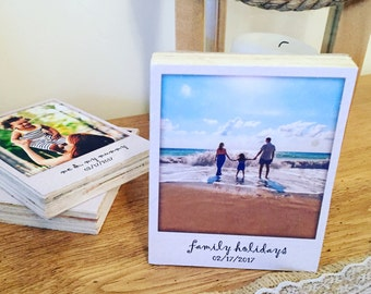 Polaroid photo frame | Gift for Dad | Photo block | Photo display | Polaroid | Polaroid Style | Wedding gift | Personalised gift |