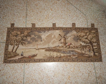Vintage French Beautiful Tapestry 053