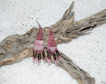Native American Style Pink Earrings
