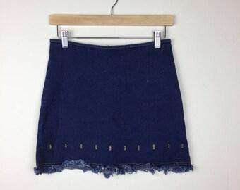 90s Denim Skirt Size 28, Denim Mini Skirt