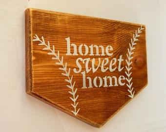 Personalized Softball Sign Baseball Plate Baseball Home Decor Sports Decor Baseball Coach
