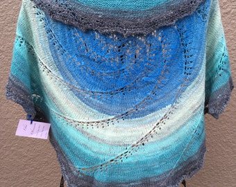 Hand knit with Hand spun yarn - Full Circle Pi Shawl