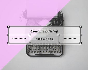 Content Editing - 3000 Words or Less