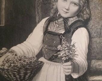 1886 antique lithograph