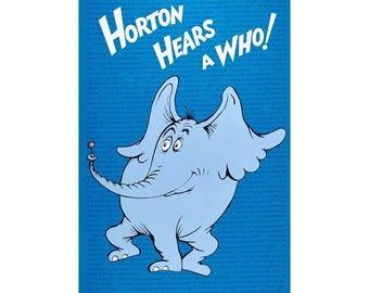Dr. Seuss Horton Hears a Who fabric panel Robert Kaufman