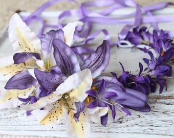 Purple Floral Wreath, Floral wreath
