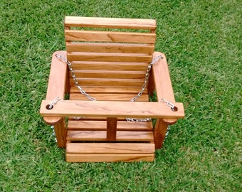 TODDLER WOOD SWING:   Handcrafted with quality pine wood and tender-loving-care.