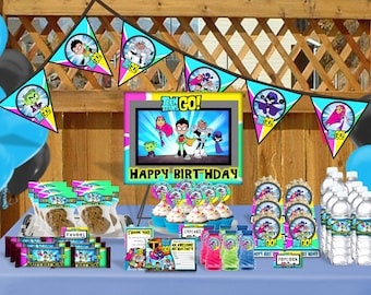 Teen Titans Go Birthday Bundle - Printable Digital Files