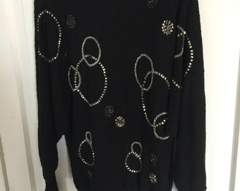 Campus Casuals Vintage Embellished Pullover Sweater