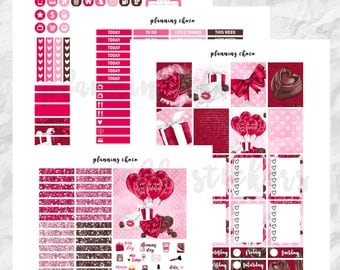 CHOCOLATE BOX printable planner stickers /EC weekly kit / erin condren planner / pdf, jpg, cut files