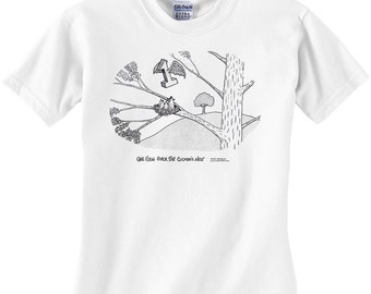 One Flew Over The Cuckoo's Nest Movie Title T-Shirt (White)