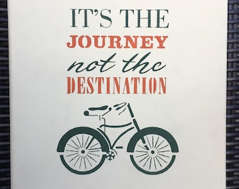 It's the Journey, Not the Destination Canvas ~ Handmade