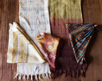 Lot of 5 Vintage Scarves