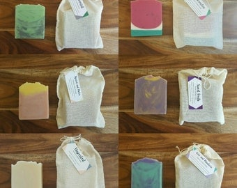 THREE HANDMADE SOAPS, Handmade soap, Cold process soap, Vegan Friendly Soap