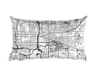 East Lansing Pillow, East Lansing Decor, East Lansing Throw Pillow, East Lansing Gift, East Lansing Map, East Lansing Art, East Lansing MI