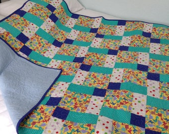 Patchwork Quilt - Disappearing 9-Patch