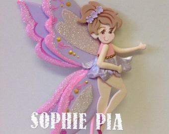 Pixie fairy dust cake topper . Fairy cake topper. Pink fairy cake topper. Fairy birthday decoration. Fairy decor. Fairy girl cake topper.