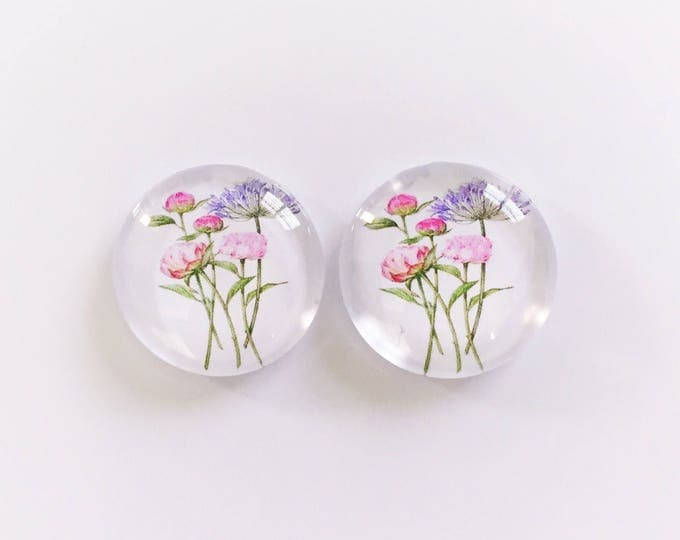 The 'Bec' Glass Earring Studs