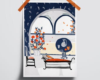 Print poster collectibles Download decor room wall Digital illustration room Print poster illustration room Living room art decor interior