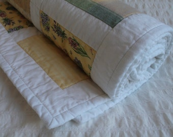 100% Cotton Botanical Patch Quilt