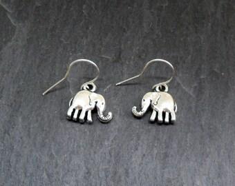 The Road To Mandalay Silver Elephant Charm Earrings