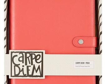 Carpe Diem Posh A5 Planner Binder Only - Coral