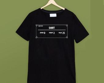 Skyrim 'Shirt' Black T Shirt