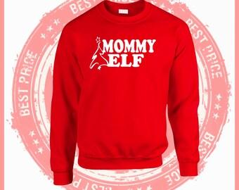 On Sale Today Mommy Elf- Mommy Elf sweatshirt, Christmas sweater-Ugly Christmas Sweater. Ugly Sweater-Christmas sweater-ugly sweater party