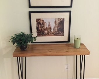 Reclaimed Barn Wood Modern Rustic Sofa Table, Entry Table, Hairpin Legs, Console Table, Industrial Table