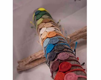 Circle Macrame bracelet - Spiral macrame - Circle Friendship Bracelet - Spiral of Life Macrame Bracelet.