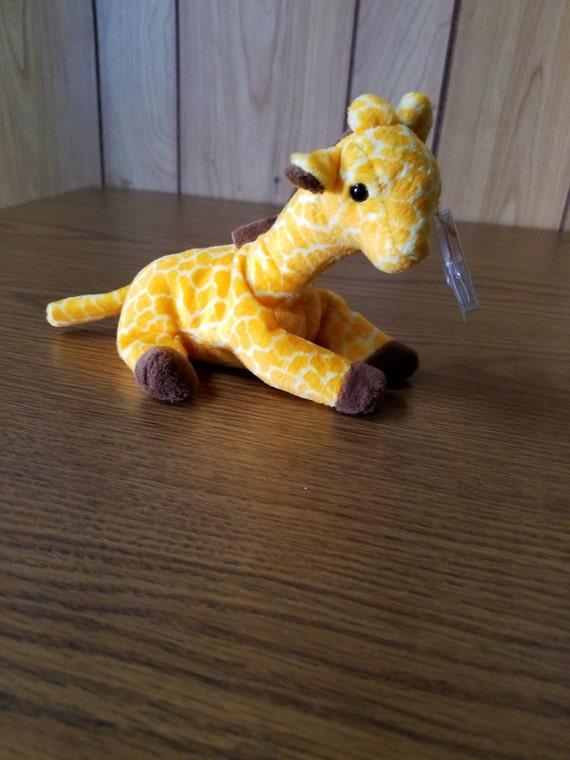 "Ty Beanie Baby ""Twigs"" the Giraffe HandTag 1995/TushTag1995 PVC Errors **Rare**"