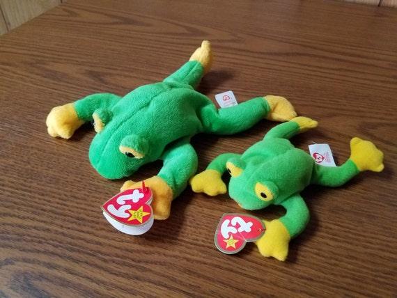 "Ty Beanie Baby ""Smoochy"" the Frog **RARE** with Teenie Beanie ""Smoochy"""